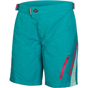 Endura MT500JR Cycling Shorts Children red/teal